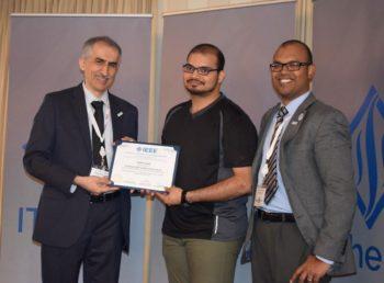 Tij Gupta wins the Overall Best Poster Award
